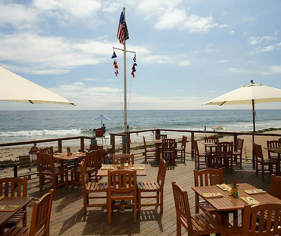 Beachcomber Restaurant of Crystal Cove beach in California