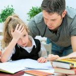 Father Helping Daughter with Homework   Child Custody Lawyer